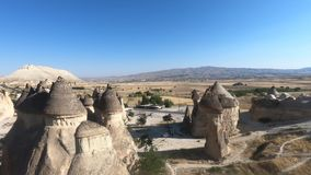View over Goreme town in Cappadocia stock video