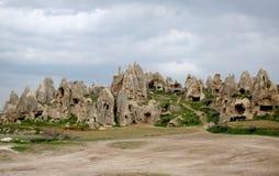 Cappadocia grottastad Arkivfoton