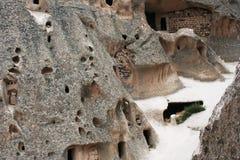Cappadocia grottor Fotografering för Bildbyråer