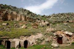 Cappadocia-Häuser Stockfoto