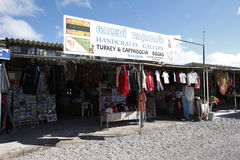 Souvenir Shop near Cappadocia Fairy Chimney Landscape, Travel Turkey Stock Images