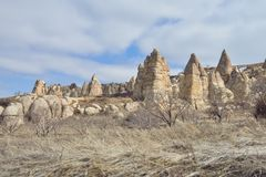 Beautiful landscape in Cappadocia Royalty Free Stock Image