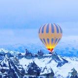 Cappadocia. Hot air ballon in Cappadocia Royalty Free Stock Photo