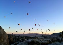 Free Cappadocia Hot Air Balloons In The Morning Sky Stock Images - 160734204