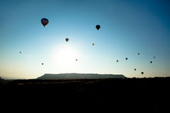 Cappadocia Hot Air Balloons. Hot Air Balloons Over Cappadocia, Turkey royalty free stock photo