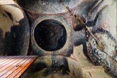 Cappadocia - inside ancient church. Ancient Christian churches cut in rock - ceiling, Goreme region / Turkey Stock Image