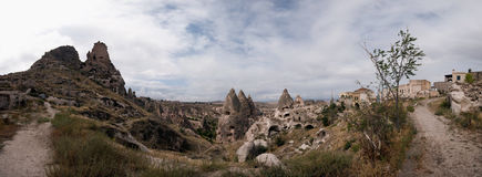 Cappadocia - Kapadokya, Turkey panorama Royalty Free Stock Images