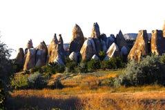 Cappadocia kominy Zdjęcie Royalty Free