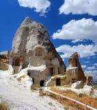 χαρασμένος cappadocia βράχος εκκ&la Στοκ φωτογραφία με δικαίωμα ελεύθερης χρήσης