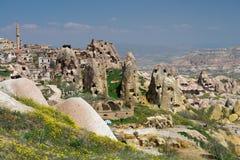 Cappadocia - la Turchia, Uchisar Fotografie Stock