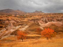 Cappadocia Landscape. Beautiful view of landscape in Cappadocia during the fall stock photos