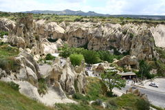 Cappadocia landscape. Cappadocia area in central Turkey Royalty Free Stock Photo
