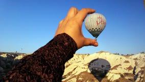 Cappadocia landscape bullon Royalty Free Stock Photo