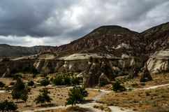 Cappadocia landscape in Central Anatolia, Turkey Royalty Free Stock Images