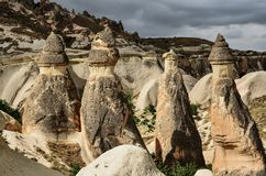 Cappadocia landscape in Central Anatolia, Turkey. A historical region Cappadocia in Central Anatolia, Turkey Stock Image
