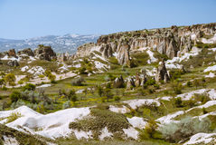 Cappadocia landscape with mountains and valleys Royalty Free Stock Image