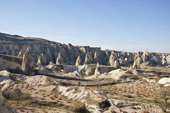 Cappadocia. The landscape of Cappadocia with rock formations at sunny autumn day Royalty Free Stock Photos
