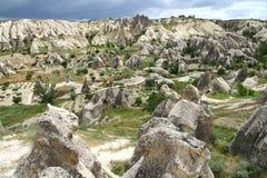 Cappadocia landscape. Landscape in Cappadocia in Turkey stock image