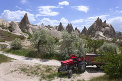 Cappadocia landscape, Turkey Royalty Free Stock Photos