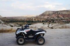 Cappadocia-Landschaft ATV Lizenzfreie Stockfotografie