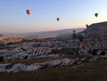 Cappadocia-Landschaft-bullon Stockfoto