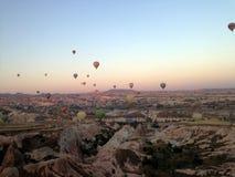 Cappadocia-Landschaft-bullon stockbilder