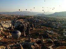 Cappadocia landskapbullon Fotografering för Bildbyråer
