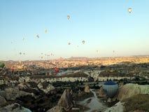Cappadocia landskapbullon Royaltyfria Foton