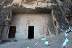 Chiesa antica interna della caverna a Cappadocia Fotografia Stock Libera da Diritti