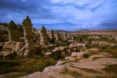 cappadocia Miasto w skale kolumny wietrzenie jar Natura indyk obrazy royalty free