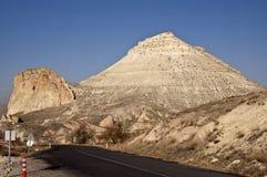 Cappadocia Mountains. The low mountains near the town of Avanos in Cappadocia at sunny autumn day Stock Photos
