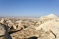Cappadocia Mountains. The low mountains near the town of Avanos in Cappadocia at sunny autumn day Stock Photography