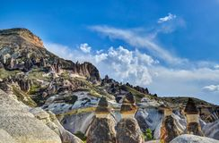 Cappadocia from Nevsehir. In Turkey Stock Images