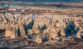 Cappadocia på soluppgång Royaltyfria Foton