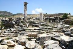 Cappadocia palace ruins Royalty Free Stock Image