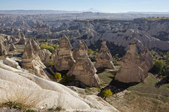 Cappadocia: panoramic view of Goreme open air museum Stock Image