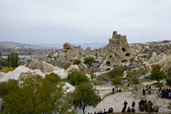 Cappadocia: panoramic view of the The town Göreme Stock Photos