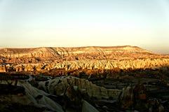 Cappadocia pendant le coucher du soleil Photographie stock