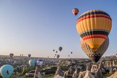 Cappadocia region ,Goreme,  Turkey Royalty Free Stock Images