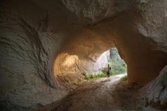 Cappadocia - road through rock Royalty Free Stock Photos