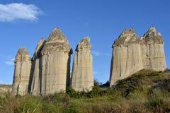 Cappadocia - roches en vallée d'amour Photographie stock libre de droits