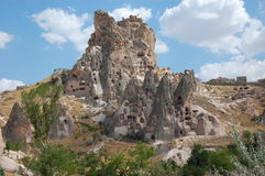 Cappadocia rock formations, Turkey. Historical dwelling in the unique rock formations in Cappadocia, Turkey Stock Image