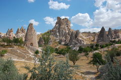 Cappadocia rock formations, Turkey. Historical dwelling in the unique rock formations in Cappadocia, Turkey. This is where the sand people scene from the first stock photos