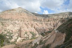 Cappadocia rock landscape, Turkey Royalty Free Stock Photo