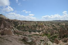 Cappadocia rock landscape, Turkey Royalty Free Stock Photos