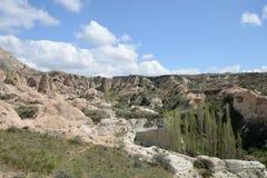 Cappadocia rock landscape, Turkey Royalty Free Stock Images