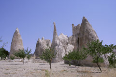 Cappadocia rock landscapes Royalty Free Stock Photography