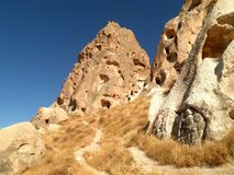 Cappadocia Ruined City. Beautiful view of a ruined city in Cappadocia royalty free stock photography