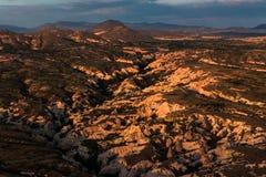 Cappadocia. Shady mountain in Cappadocia, Turkey Stock Photography