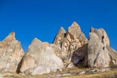 Cappadocia spectacular cave fortress Royalty Free Stock Photo